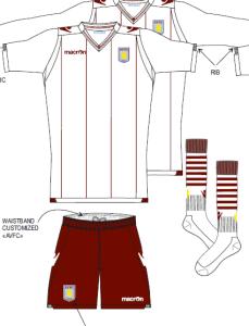 Aston Villa 2015 maillot exterieur football