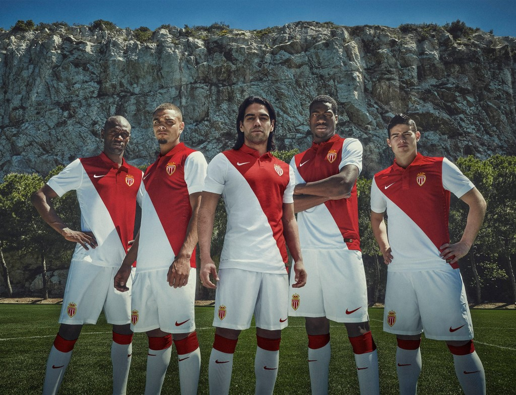Maillot domicile AS Monaco 2015