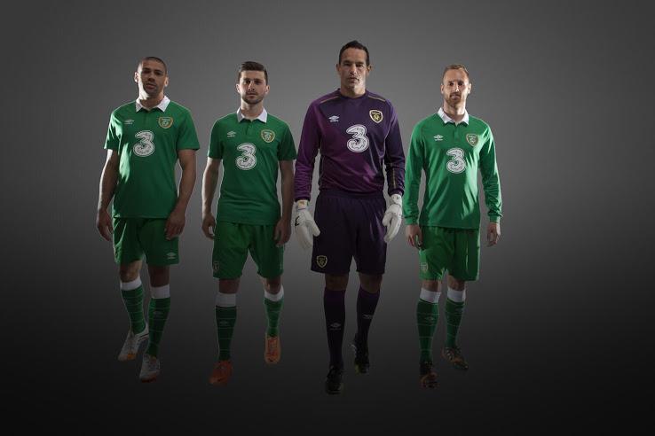 Irlande 2014 maillot domicile et gardien