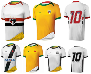 maillots foot reversibles 5 clubs bresil Ceara Sporting Club Sao Paulo Vasco da Gama Figueirense Santa Cruz