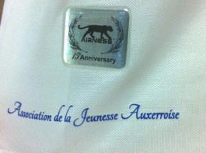 AJ Auxerre badge maillot 14 15