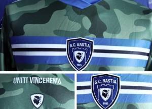 Bastia 2014 2015 troisieme maillot foot