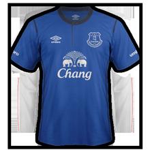 Everton 2014 2015 maillot de foot domicile