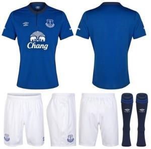 Everton 2014 2015 maillot domicile