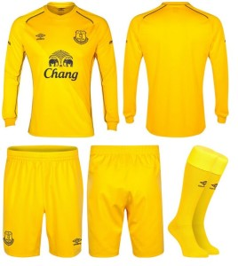 Everton 2015 gardien maillot short foot