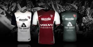 FC Metz 2015 maillots de football
