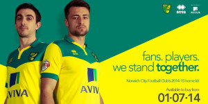 Norwich City 2015 maillot domicile football