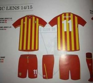 RC Lens 2015 maillot domicile 14 15