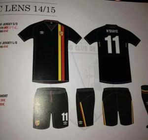 RC Lens 2015 maillot foot exterieur