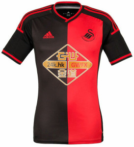 Swansea 2015 maillot exterieur foot
