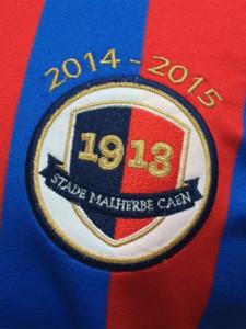 Caen blason maillot foot domicile 2015