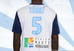 Le Havre 2015 maillot exterieur HAC dos