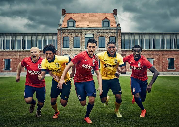 Lille OSC 2014 2015 LOSC maillots de foot L1