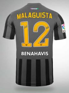 Malaga 2015 maillot foot dos exterieur