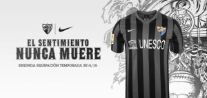 Malaga maillot exterieur 2014 2015 officiel