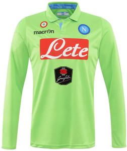 Naples 2014 2015 maillot de gardien vert domicile