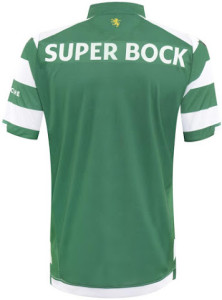 Sporting 2015 dos maillot domicile 14 15