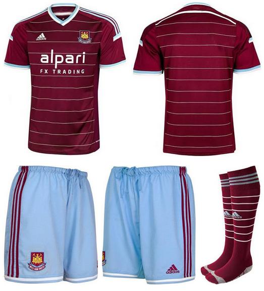 Maillot 2014/2015  West-Ham-2015-maillot-domicile-foot