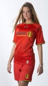 belge fille sexy belle maillot belgique 2014 domicile coupe du monde