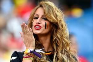 belge jolie fille maillot extérieur balgique 2014 coupe du monde