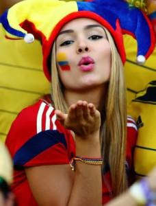 colombienne sexy femme fan maillot exterieur colombie 2014 coupe monde