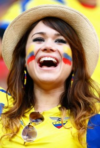 equateur supportrice fan maillot foot equateur 2014
