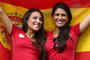 espagne babes maillot espagne 2014 supportrices espagnoles