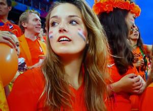 hollandaise babe fille sexy maillot domicile pays-bas coupe du monde 2014