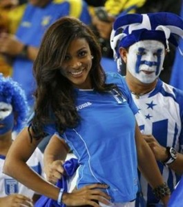 honduras fan babe belle supportrice hondurienne maillot 2014