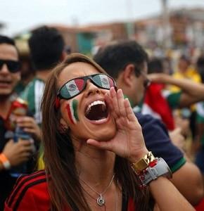 mexicaine jolie fille avec le maillot exterieur du mexique 2014 coupe du monde