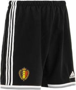 short de foot Belgique 2015 extérieur