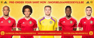 officiel maillot belgique 2015