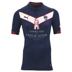 Maillot football Girondins Bordeaux vin Chateau Latour