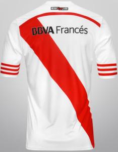 River Plate 2015 dos du maillot domicile