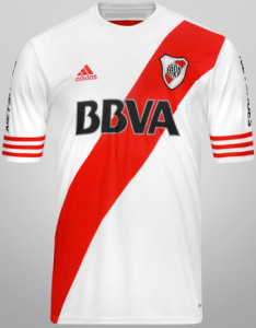 River Plate 2015 maillot foot domicile