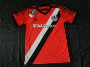 River Plate 2015 maillot foot exterieur orange