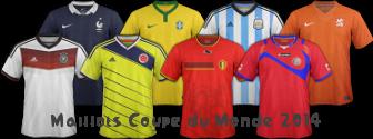 Les maillots de football de la Coupe du Monde 2014