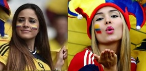 supportrices filles sexy en maillot de football de la coupe du monde 2014