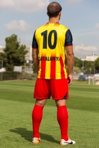 Catalogne dos maillot foot domicile 2014 2015