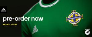 Irlande Du Nord 2015 maillot domicile 15 16