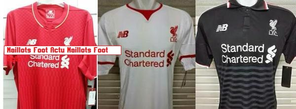 Liverpool 2015 2016 maillots foot New Balance
