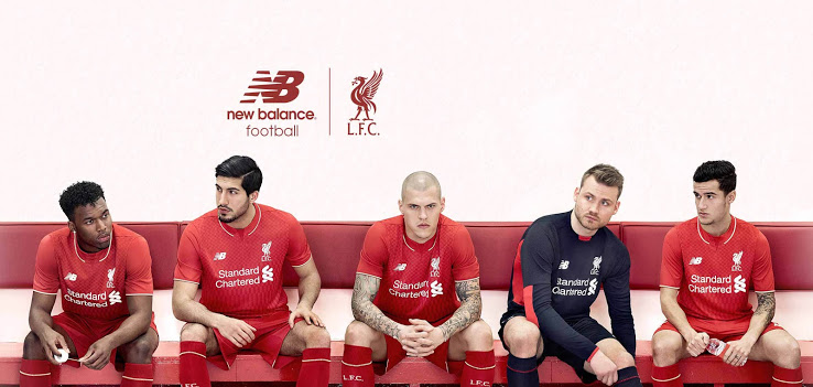 Liverpool 2015 2016 presentation maillot domicile officiel
