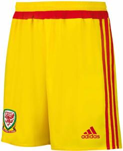 Pays de Galles 2015 short exterieur Adidas