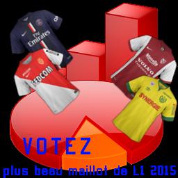 Votez pour le plus beau maillot de L1 2014 2015