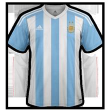 Argentine 2015 maillot de foot domicile Copa America