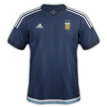 Argentine 2015 maillot exterieur Copa America 2015