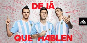 Argentine maillot domicile officiel Copa Americ 2015