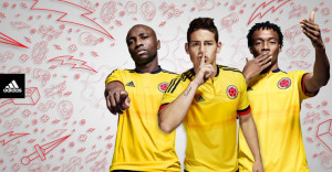 Colombie 2015 maillot domicile Copa America photo officiel