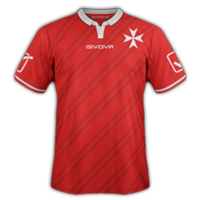 Malte 2015 maillot de foot domicile qualifs Euro 2016