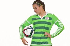 Mexique 2015 maillot foot feminine domicile